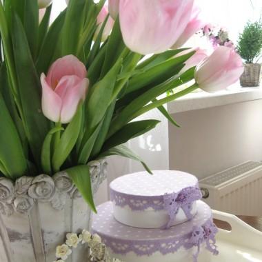 i trochę różowych słodkości... takich, co nie tuczą:-)))