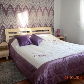 Sypialnia w fiolecie i szarości...