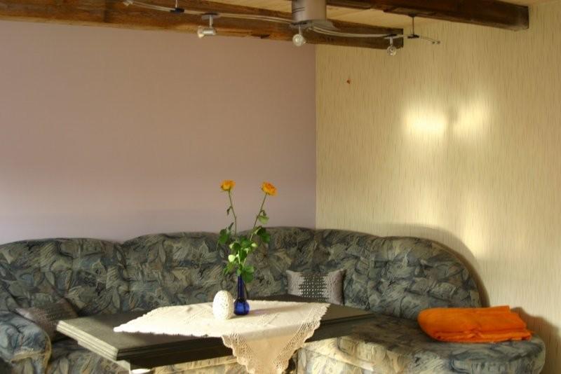 Salon, Moj pokój.... - a tu miejsce gdzie narazie spie (po rozłożeniu;) i tak jak widac nie mam jeszcze lamp w jednej sytylistyce palnuje na wiosne ich zakup....ale poki co mysle ze sie cos powoli zaczyna dziac