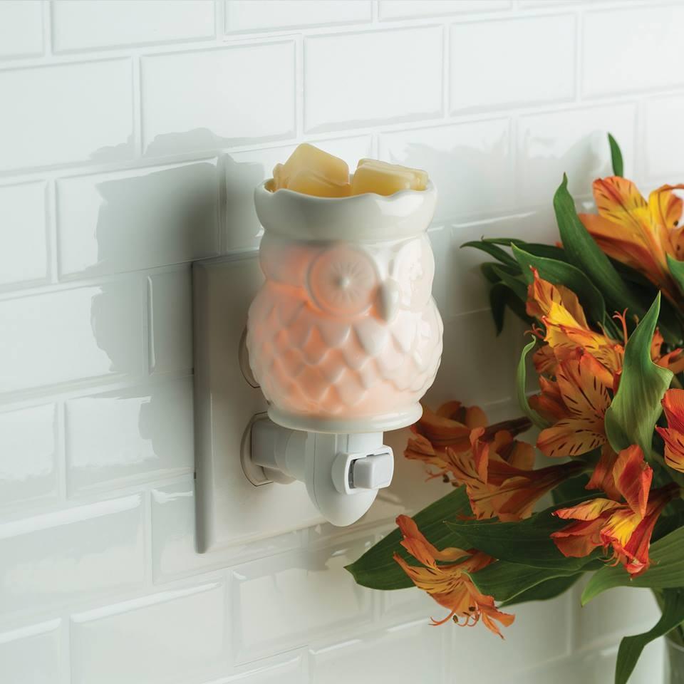 Dekoracje, Kominki elektryczne plug-in (nowość) - Kominek Candle Warmers  OWL