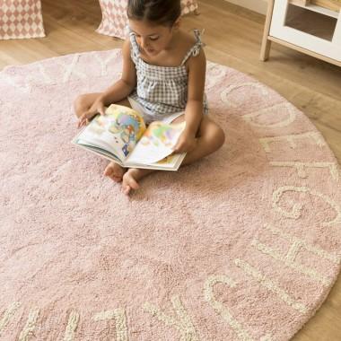 Tym razem wersja dla dziewczynki, dywan ABC w kolorze różowym :)