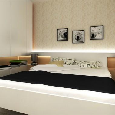 Sypialnia w mieszkaniu w Lublinie