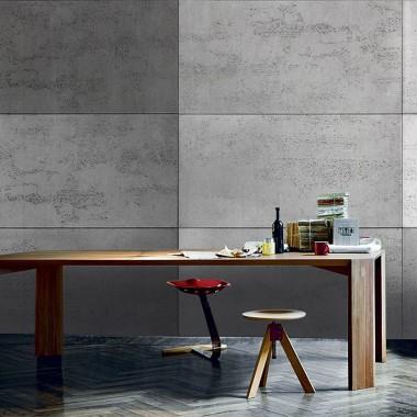 Kolorowa mozaika z naturalnego betonu architektonicznego Luxum, uzyskana z 5-ciu różnych kolorów.