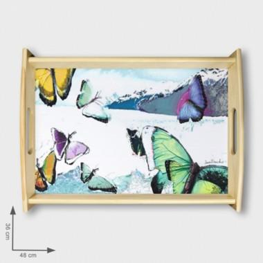 tacki drewniane., grafiki Anny Dmowskiej