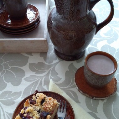 a na podwieczorek drożdżówka ze śliwkami i kakao, zapraszam :)