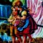 Pokój dziecięcy, Aniołki na płótnie pisane pamiątka na chrzest lub komunię św