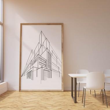 czarno-biały plakat proponujemy do stylizacji minimalistycznych wnętrz, np. pracowni artystycznej