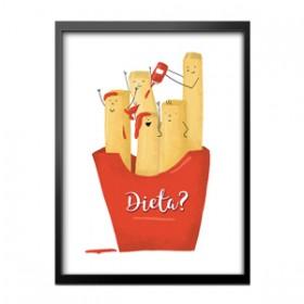 Obraz w ramie - Frytki czy dieta