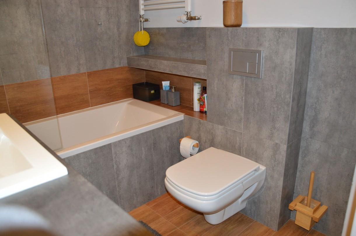 Zdjęcie 44 W Aranżacji łazienka Beton I Poniekąd Drewno