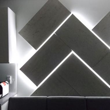 Podświetlona mozaika z płyty betonowej Luxum
