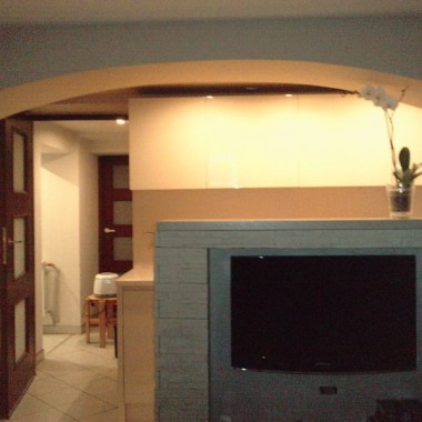 Nasze pierwsze mieszkanko/salon z aneksem kuchennym