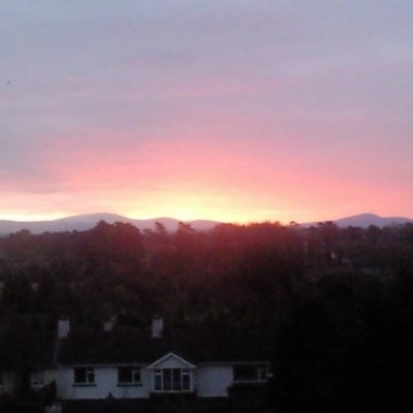 Takim widokiem żegnam dzień - góry i zachód słońca - czy może być coś piękniejszego ???