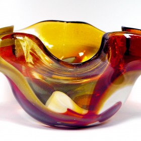 miski i wazony ręcznie wykonane Mdina Glass