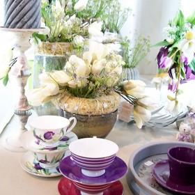 Modny fiolet i szarości- aranżacje