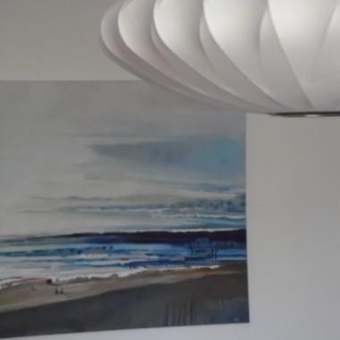 Olej, pędzla tej samej malarki. Będę miała morze na co dzień, pozazdrościłam adzi75:)