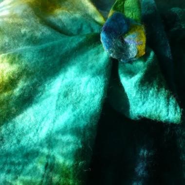 ....................i zielono niebieski szal.............