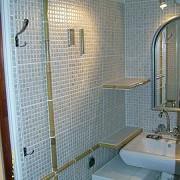 łazienka maleństwo&#x3B;) Nasz projekt autorski.Dekor wykonano z bambusa.Więcej o niej i o innych naszych pomysłach na http://www.flizowanie.com w dziale oryginalne pomysły
