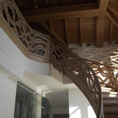 Balustrada rzeźbiona,Wykonawca. Legar-schody