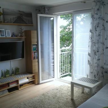 Moje małe mieszkanko w bloku - pokoik dzienny z aneksem