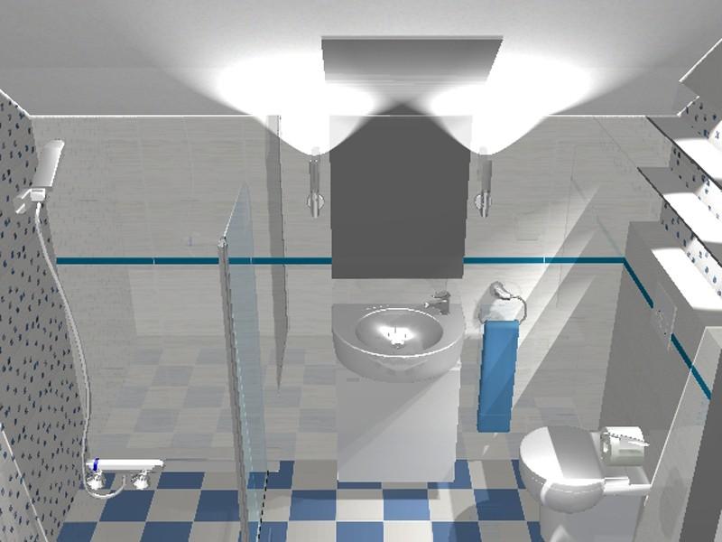 Łazienka, Bardzo mała łazienka na poddaszu