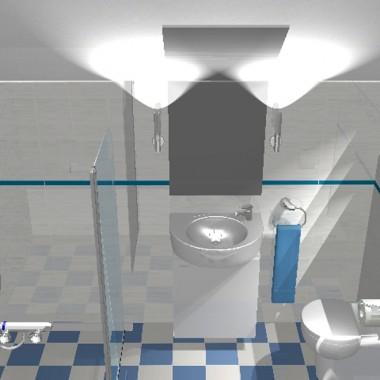 Na poddaszu nie przewidziano łazienki na etapie projektu architektonicznego, więc wydzielono ją z sypialni, w jedynym możliwym miejscu ze względu na możliwość doprowadzenia wody i kanalizacji, pod spadkiem, gdzie ściana z umywalką nie ma wysokości nawet 200 cm. Szerokość łazienki to zaledwie 110cm i dlatego umywalka musiała być bardzo mała. Zobacz, co z tego wyszło.