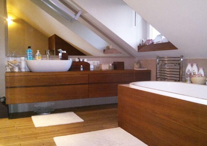 Zdjęcie 39 W Aranżacji łazienki Na Poddaszu Deccoriapl
