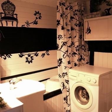 Nasza Biało czarna - łazienka:)