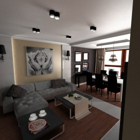Projekt mieszkania w stylu glamour