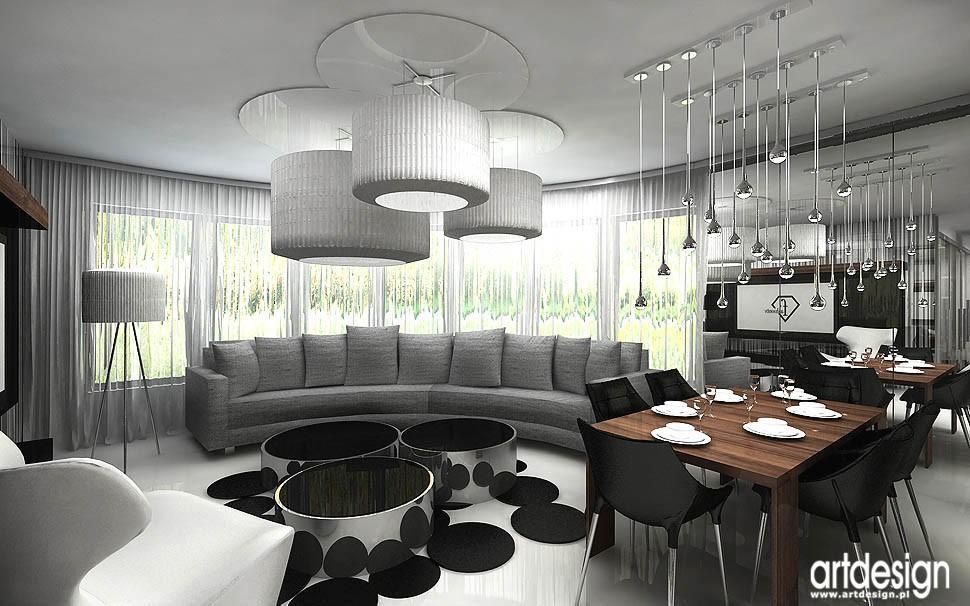 Pozostałe, apartament w Gdańsku - projekt wnętrz salonu