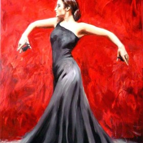 dwa obrazy z ognistym flamenco !
