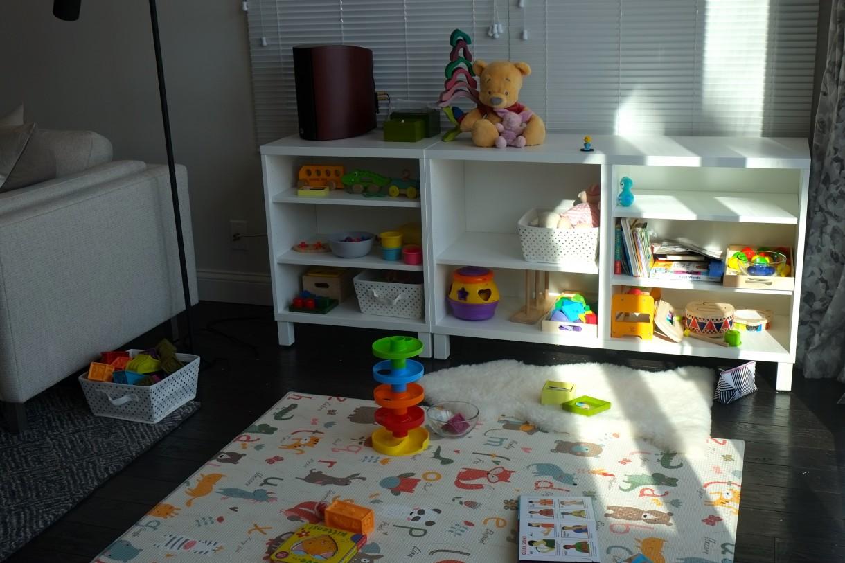 Salon, Pokoj rodzinny: w trakcie, jak zawsze - Miejsce do pracy dziecka