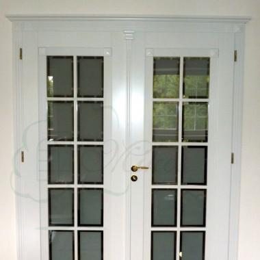Drzwi dwuskrzydłowe drewniane