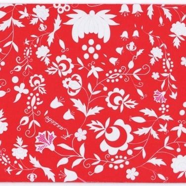 Podkładka pod mysz z haftem kaszubskim (czerwona)