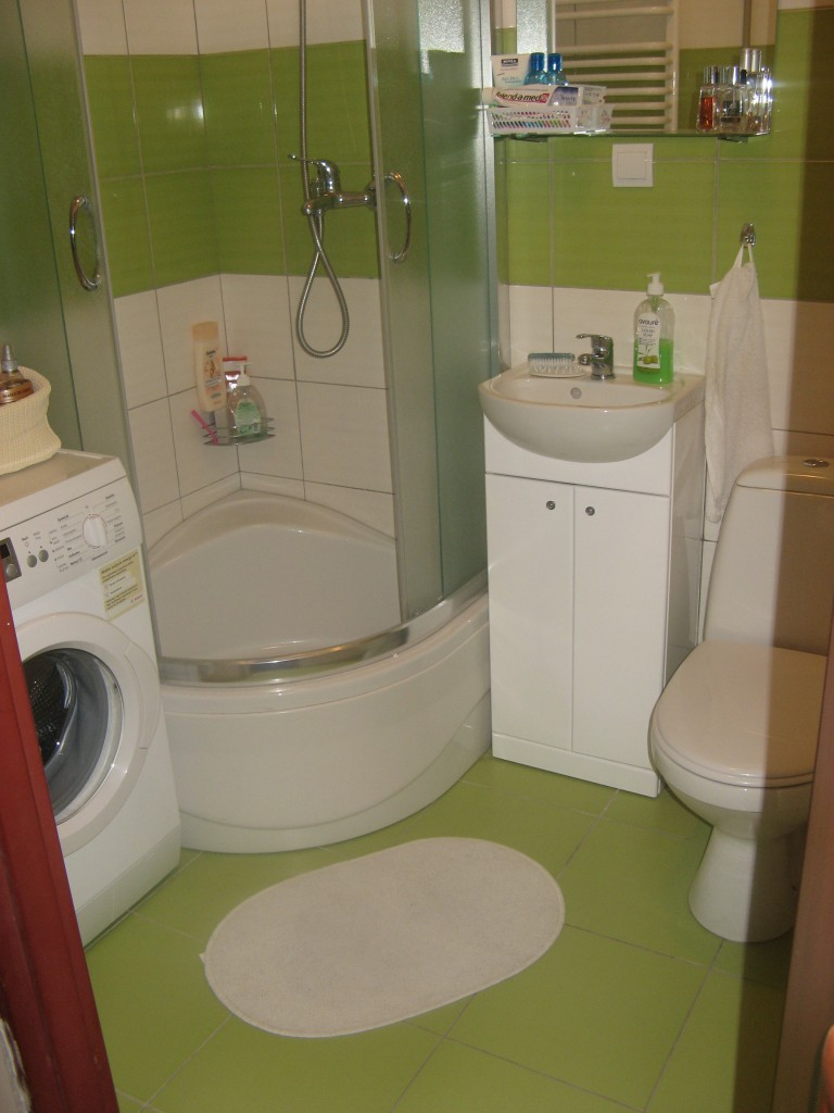 Nasza Mała Zielono Biała łazienka Deccoriapl