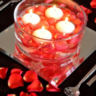 Dekoracje stołu Walentynkowe