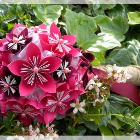 fiolety, róże i inne kwiaty