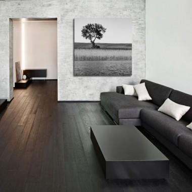 Obraz na płótnie z motywem drzewa, nada wnętrzu klimatu i tajemniczości.