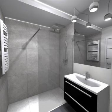 Nowoczesna łazienka W Szarościach Deccoriapl