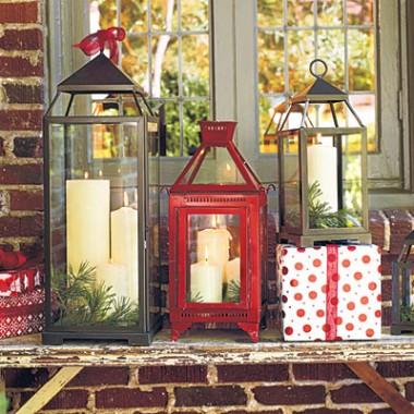 Dekoracje świąteczne na zewnątrz...