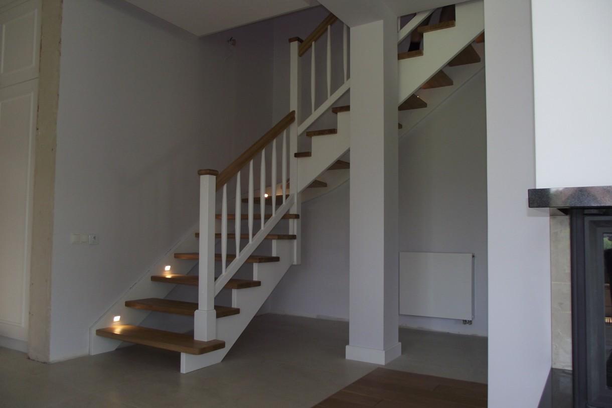 Schody Drewniane Białe Deccoriapl