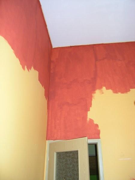 Pozostałe, metamorfoza - pokój siostry - Tutaj widać mniej więcej, jak wysoki jest pokój oraz jakiego koloru były ściany.