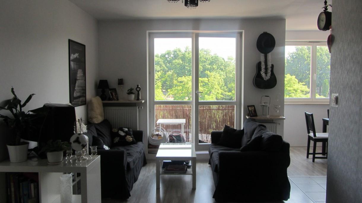 Pozostałe, Biało-czarno-szary minimalizm - Pokój szumnie zwany salonem;)