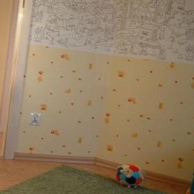 pokój dziecinny i rysunku na ścianie :-)