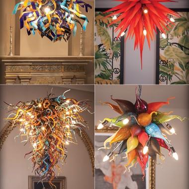 Lampy ręcznie wykonane Mdina Glass
