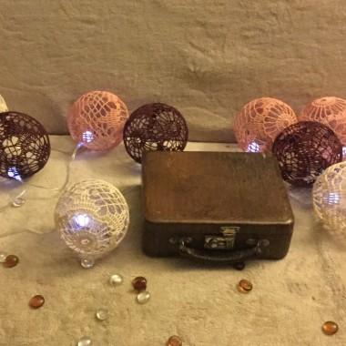 Azurowe szydelkowe kule cotton balls