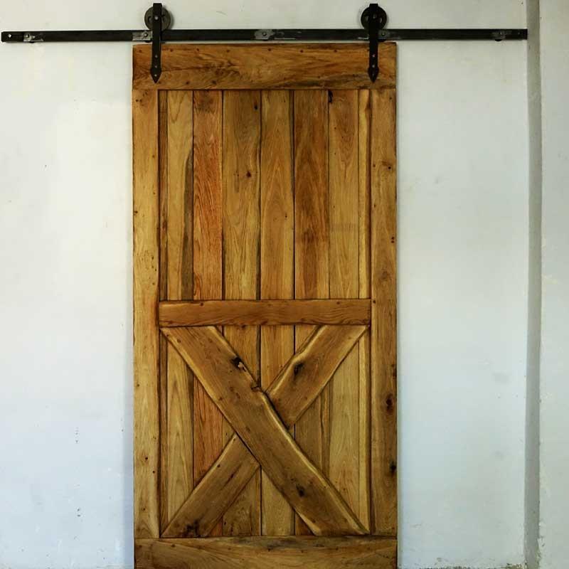 Pozostałe, Drzwi przesuwne na prowadnicach - Rustykalne Uchwyty. Drzwi przesuwne