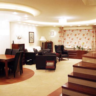 Salon w domu szeregowym