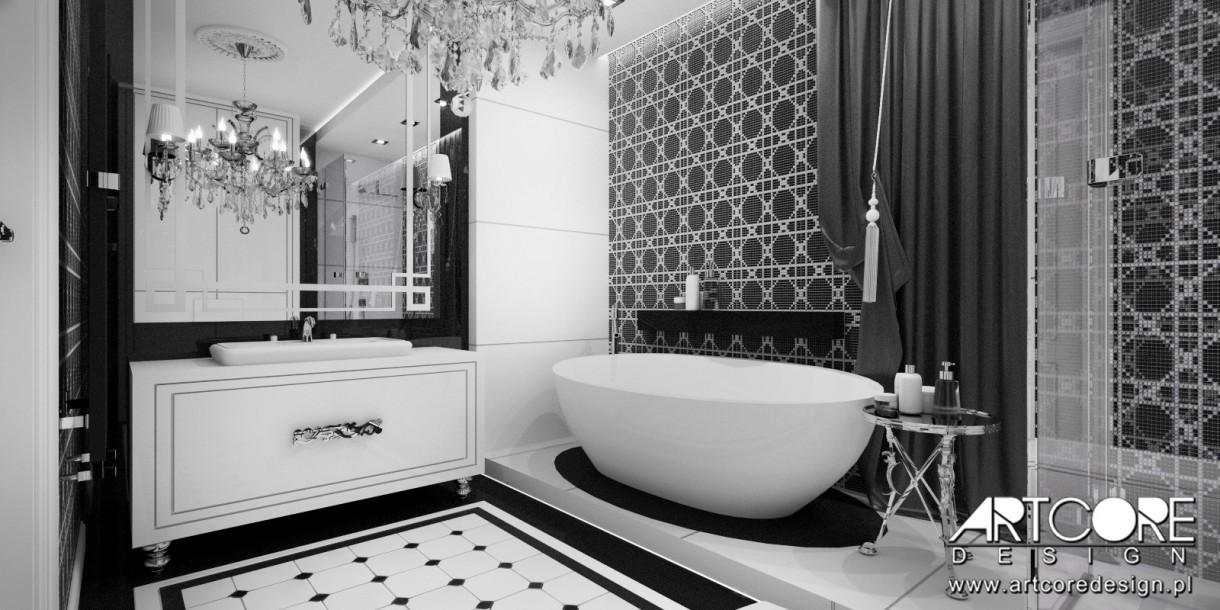 Czarno Biała łazienka Glamour Deccoriapl