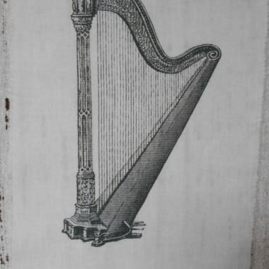 """grafika na bawełnie """"instrumenty"""""""