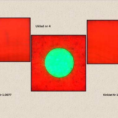 Aranżacja z 2 szt. Kinkietów o powierzchni z naturalnego transparentnego onyksu i 1 szt. Kinkietu o powierzchni z kryształów soli kamiennej podświetlana diodami LED sterowana PILOTEM z 20 programami kolorystycznymi ,19 kolorów ,5 sotopni regulacji jasności i prędkości